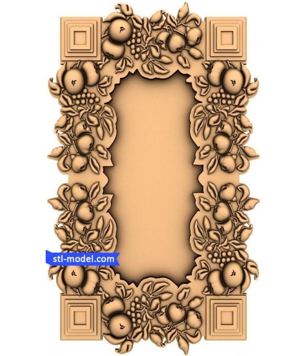 "Frame ""Frame #129"" | STL - 3D model for CNC"