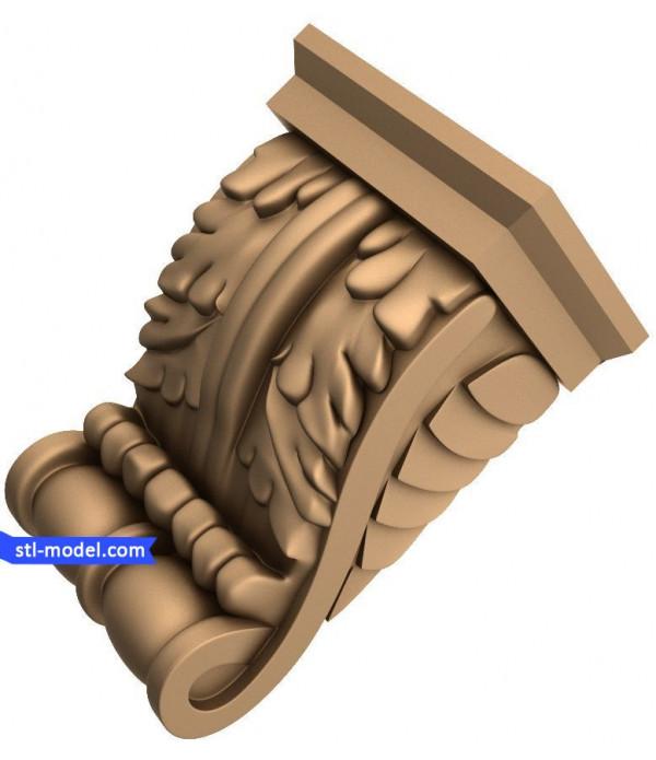 "Corbel ""Corbel #18"" | STL - 3D model for CNC"