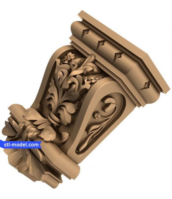 "Corbel ""Corbel #9"" | STL - 3D model for CNC"