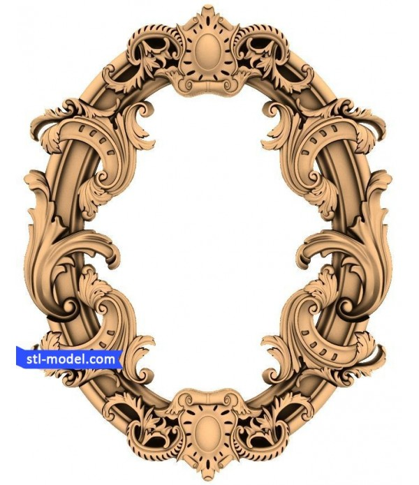 "Frame ""Frame #64"" | STL - 3D model for CNC"
