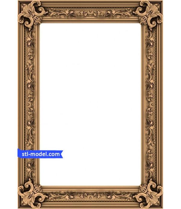"Frame ""Frame #12"" | STL - 3D model for CNC"