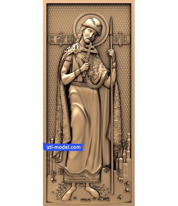 "Icon ""St Boris #2"" | STL - 3D model for CNC"