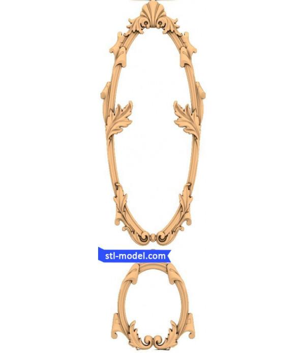 "Frame ""Frame #132"" | STL - 3D model for CNC"