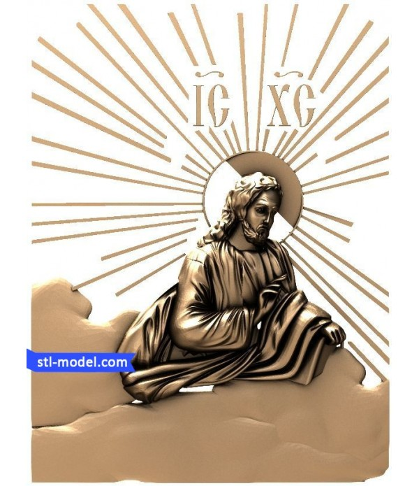 "Icon ""Jesus #5"" | STL - 3D model for CNC"