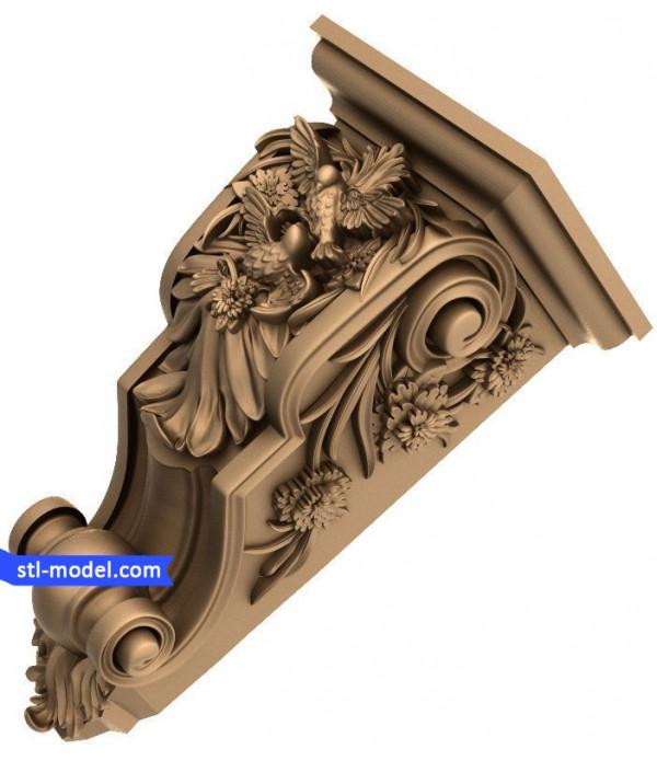 "Corbel ""Corbel #82""   STL - 3D model for CNC"