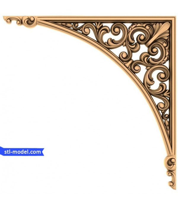 "Corner decor ""decor Corner #13"" | STL - 3D model for CNC"