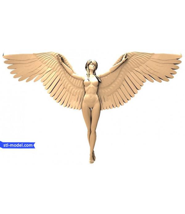 "Angel ""Angel #1""   STL - 3d model for CNC"
