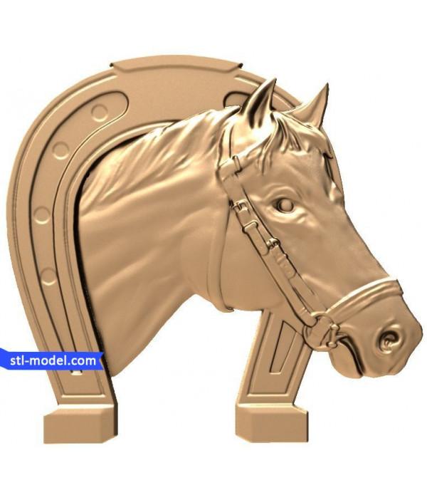 "Bas-relief ""Horseshoe #1"" | STL - 3D model for CNC"