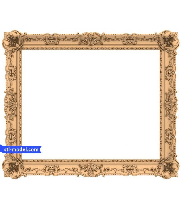 "Frame ""Frame #184"" | STL - 3D model for CNC"