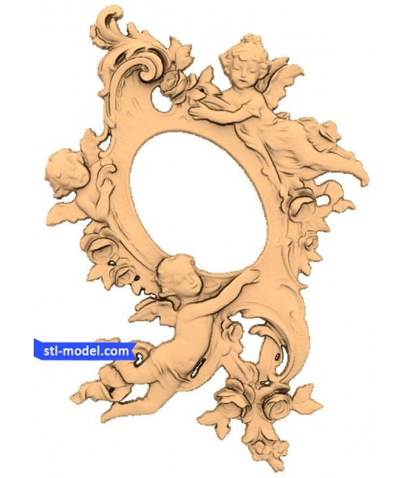 "Frame ""Frame #23""   STL - 3D model for CNC"