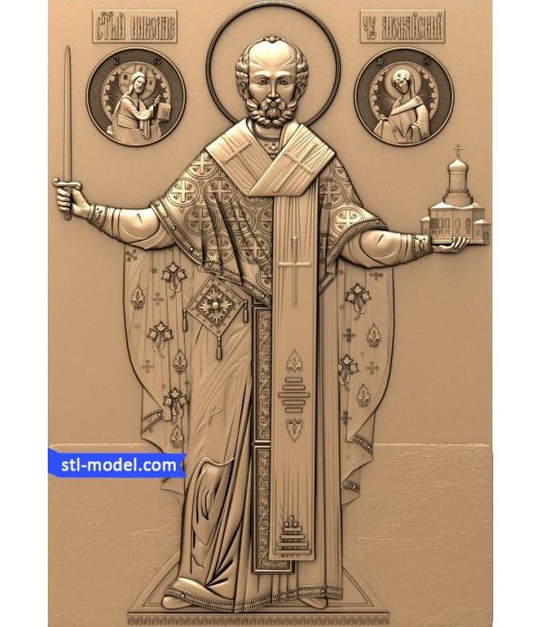 "Icon ""Nicholas the Wonderworker #9"" | STL - 3D model for CNC"