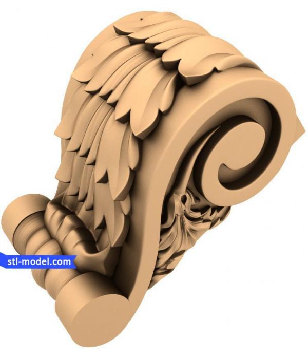"Corbel ""Corbel #63"" | STL - 3D model for CNC"