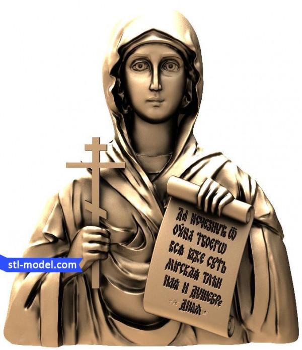 "Icon ""Holy Natalia #2"" | STL - 3D model for CNC"