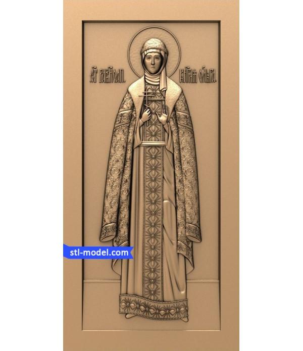 "Icon ""Princess Olga"" | STL - 3D model for CNC"