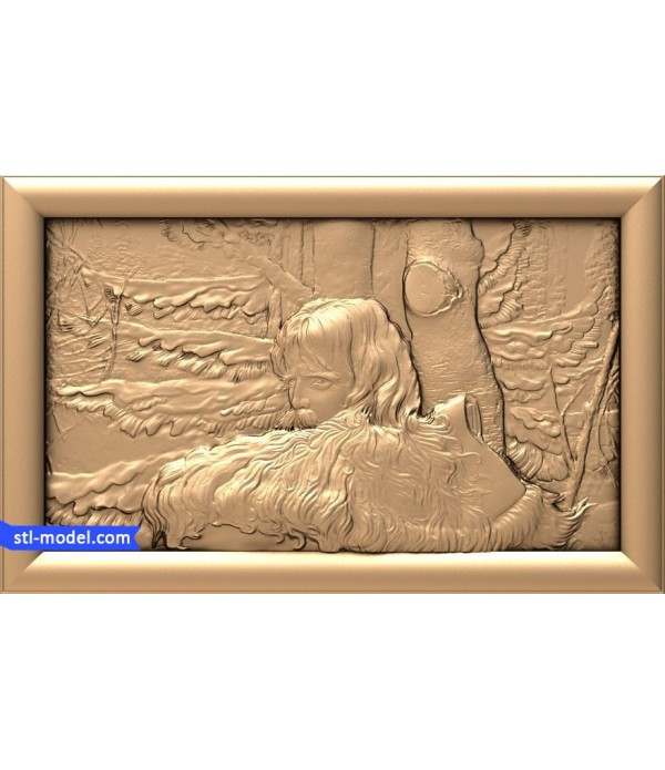 "Bas-relief ""Forester #1"" 