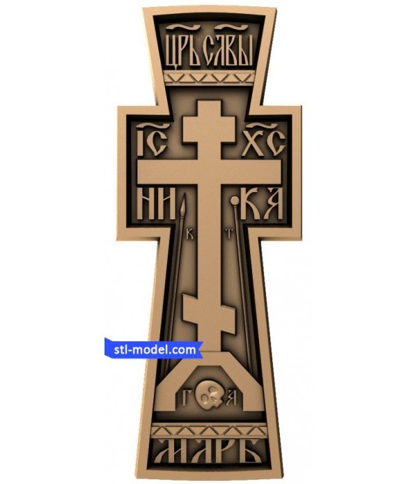 "Cross ""Cross #12"" | STL - 3D model for CNC"
