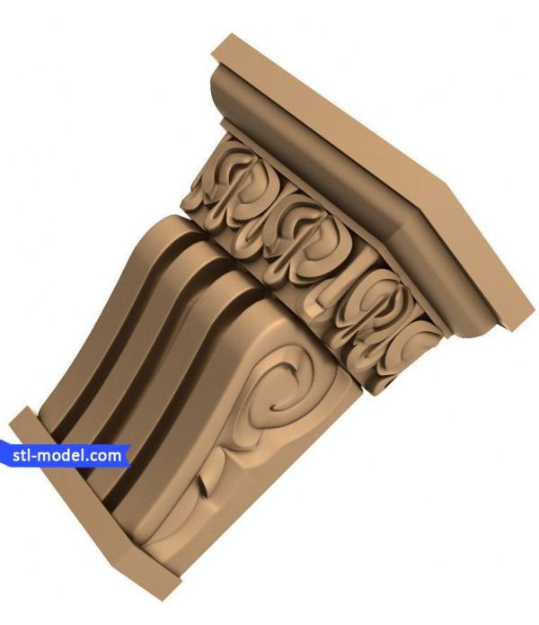 "Corbel ""Corbel #3"" | STL - 3D model for CNC"
