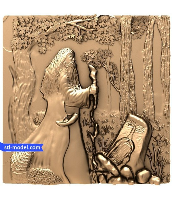 "Bas-relief ""Sorcerer"" 