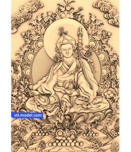 Buddha with a background of №10