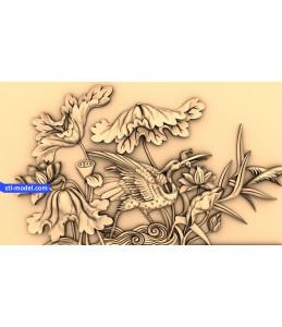 Birds and Lotus flowers