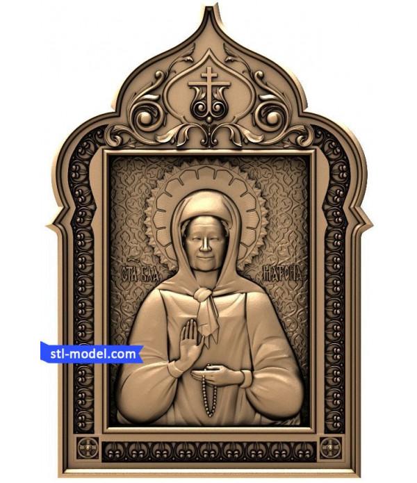 "Icon ""St. Matrona #5"" | STL - 3D model for CNC"