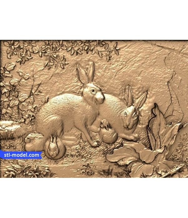 "Bas-relief ""Hare"" 
