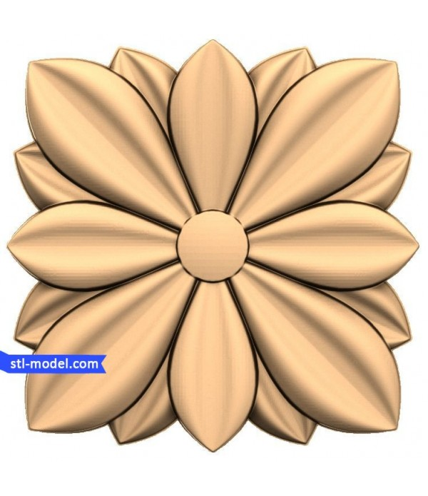 """Rosette """"Rosette #13""""   STL - 3D model for CNC"""