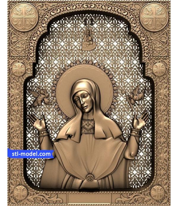 "Icon ""Hagia Sophia"" | STL - 3D model for CNC"