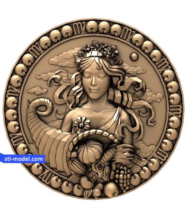 "Sign of the Zodiac ""Virgo"" | STL - 3D model for CNC"