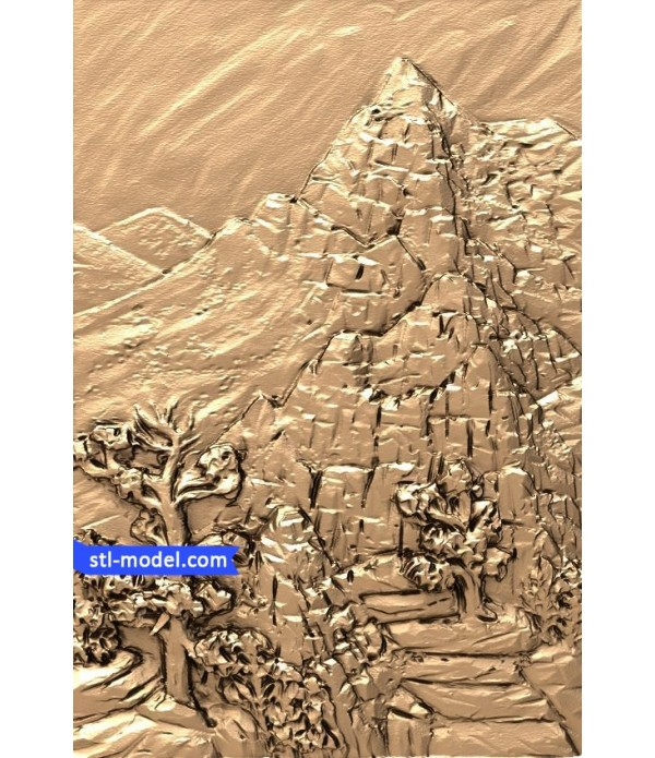 "Bas-relief ""Mountains"" 