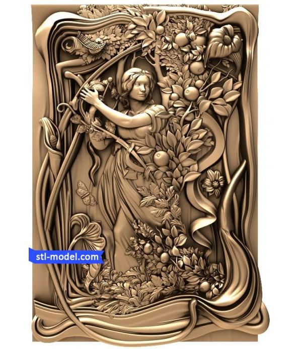 "Bas-relief ""Bas-relief #5"" | STL - 3D model for CNC"