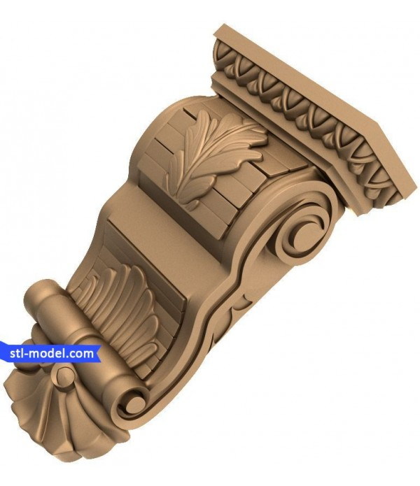 "Corbel ""Corbel #1"" | STL - 3D model for CNC"