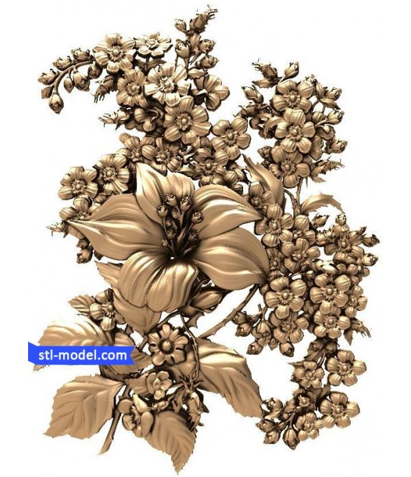 "Flowers ""Flowers #2"" | STL - 3D model for CNC"