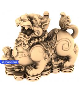 Chinese lion cash