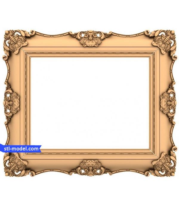 "Frame ""Frame #47""   3D STL model for CNC"