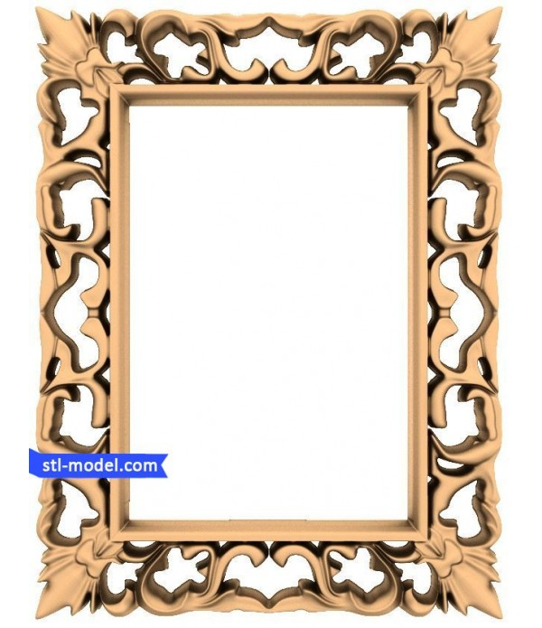 "Frame ""Frame #96""   STL - 3D model for CNC"