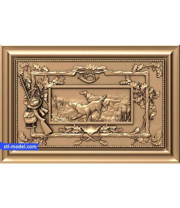 "Bas-relief ""Dog in the hunt"" 