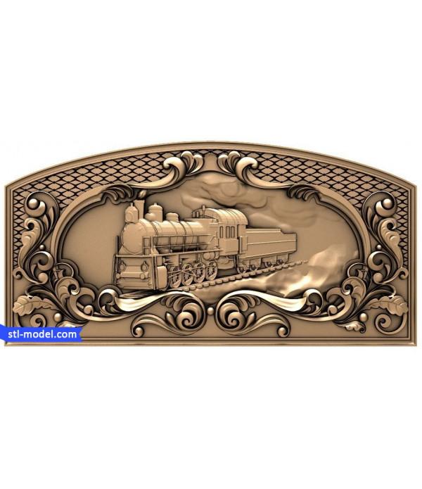 "Backgammon ""Russian Railways #1"" | STL - 3D model for CNC"