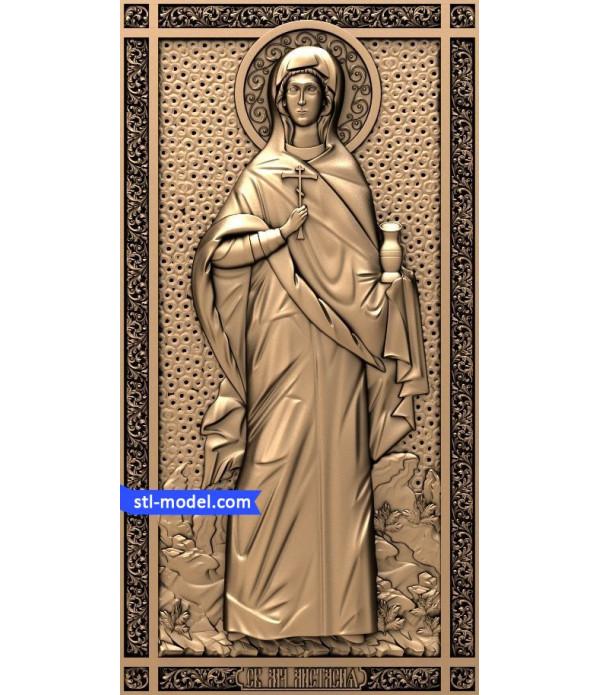 "Icon ""Saint Anastasia"" | STL - 3D model for CNC"