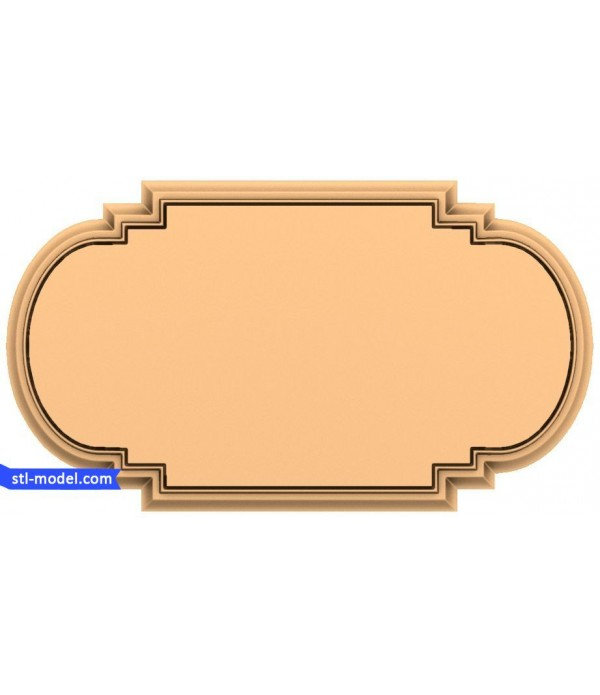 "Frame ""Frame #137""   STL - 3D model for CNC"