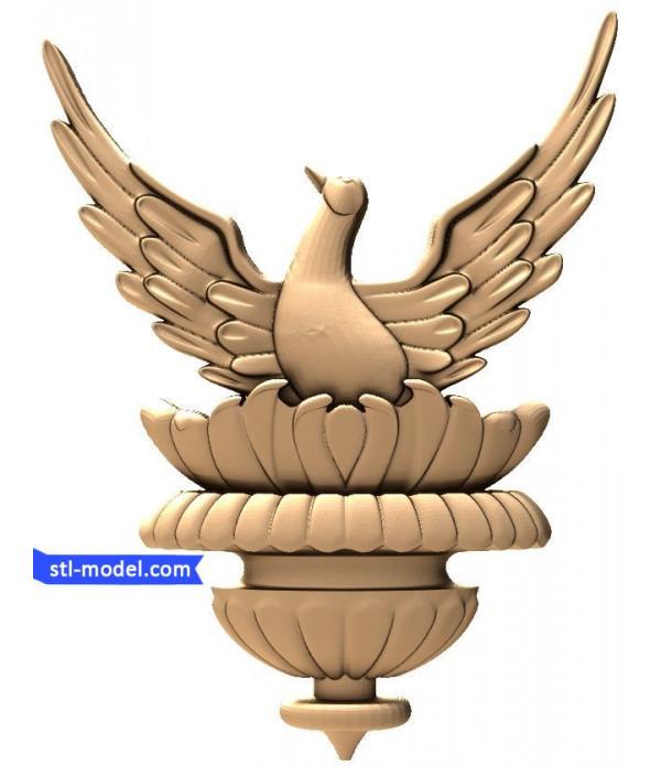 "Bas-relief ""Bird"" | STL - 3D model for CNC machine"