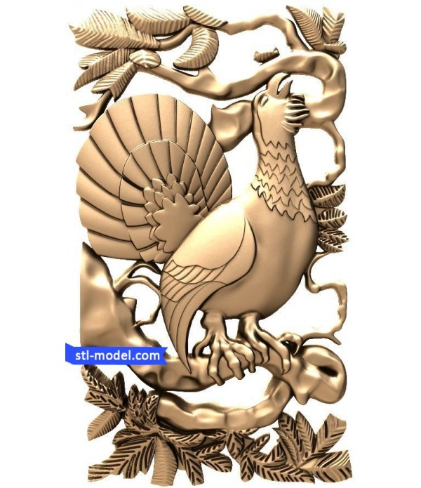 "Bas-relief ""Peacock"" 