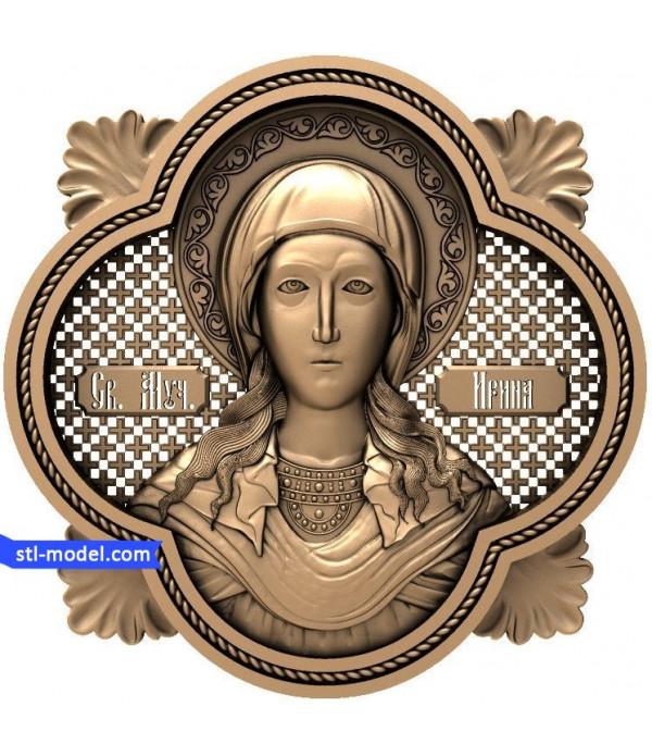 "Icon ""Saint Irina"" | STL - 3D model for CNC"