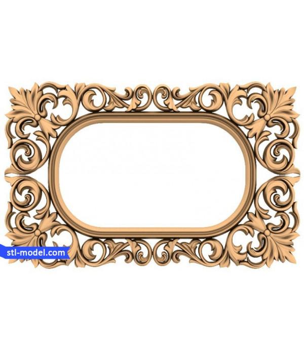 "Frame ""Frame #163"" | STL - 3D model for CNC"