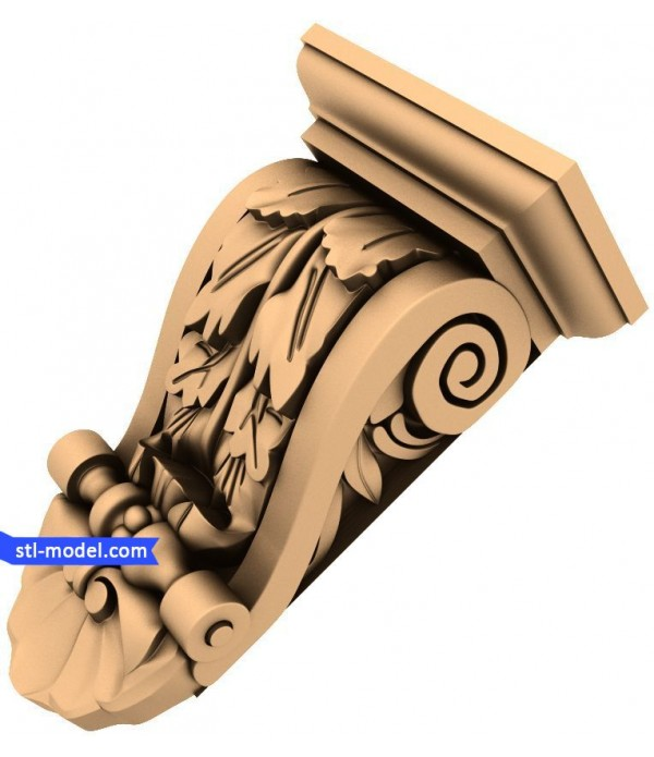 "Corbel ""Corbel #10"" | STL - 3D model for CNC"