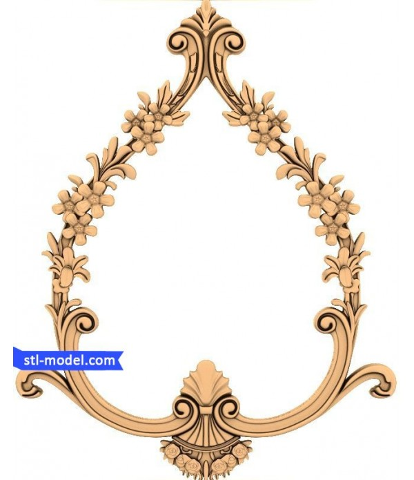 "Frame ""Frame #107"" | STL - 3D model for CNC"