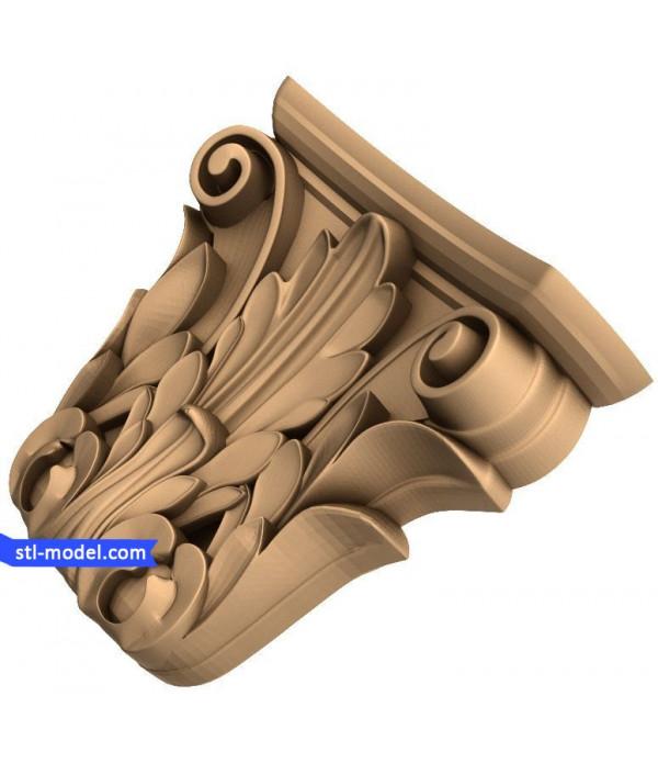 "Corbel ""Corbel #27"" | STL - 3D model for CNC"