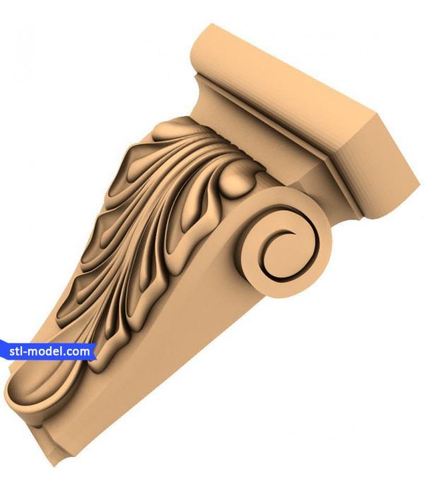 "Corbel ""Corbel #90"" | STL - 3D model for CNC"