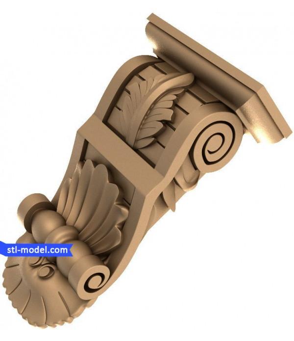 "Corbel ""Corbel #13"" | STL - 3D model for CNC"