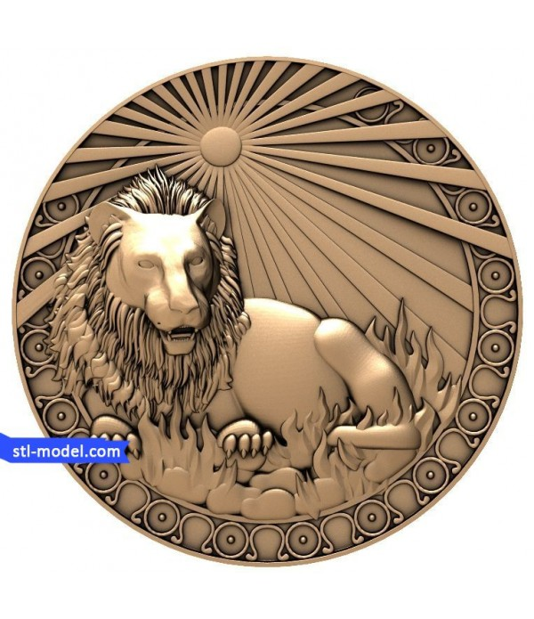 "Zodiac ""Leo"" | STL - 3D model for CNC"